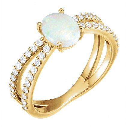 71934 Z zlatý prsteň s opálom