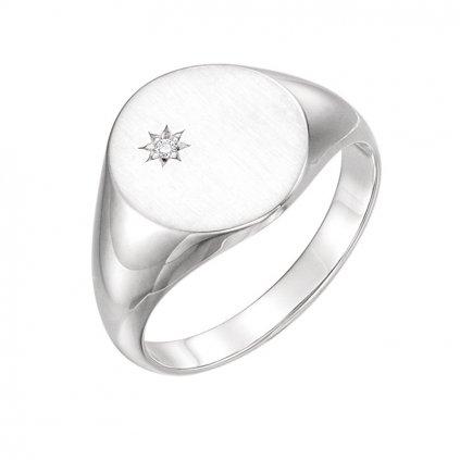 prsteň z bieleho zlata pre mužov 9833b
