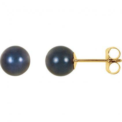 zlaté perlové náušnice 61104ZC6