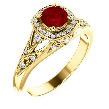 exkluzívny zlaty prsten 22154