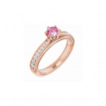 prsteň z ružového zlata 22159rrx