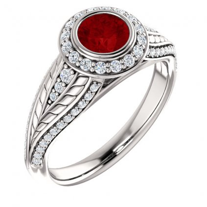 Bohato zdobený zlatý prsteň 22158