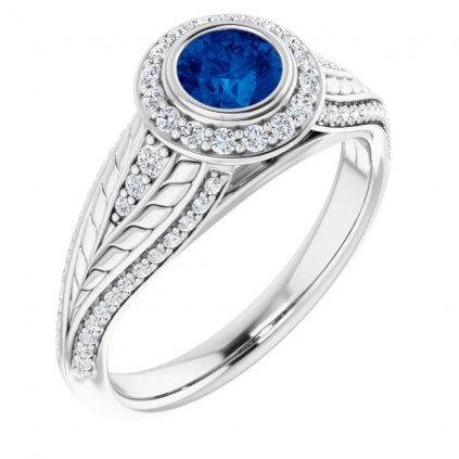 prsteň biele zlato 22158bm