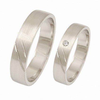 jednoduché snubné prstene z bieleho zlata