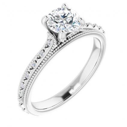 prsten biele zlato