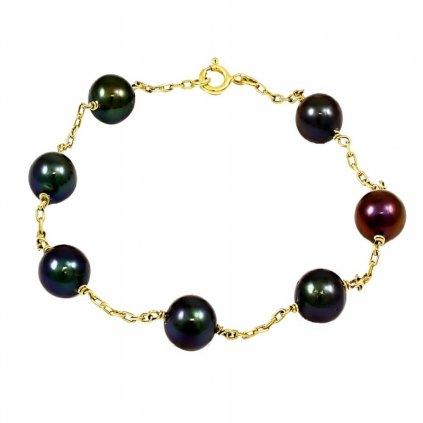 Zlatý perlový náramok 2563/Z/P