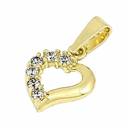 Privesok zo žltého zlata v tvare srdca 2469ZX