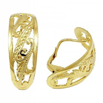 klasické zlaté náušnice 2336