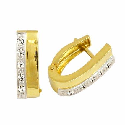 žltobiele zlaté náušnice 23167