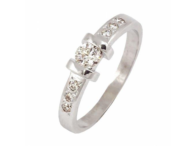 Zlatý briliantový prsteň 22136B/B/X