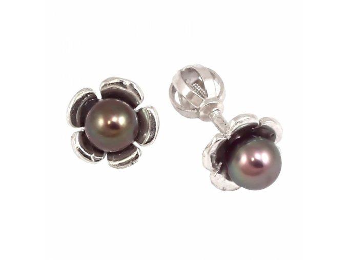 Zlaté perlové náušnice 23173/B/Py