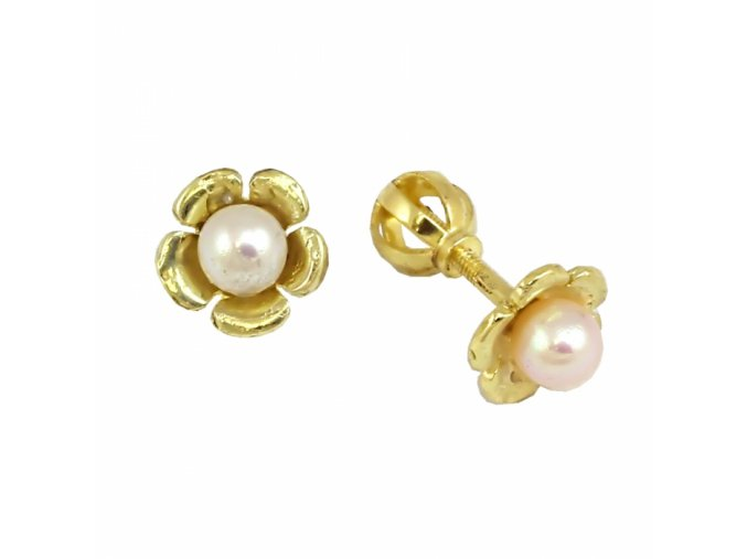 Zlaté perlové náušnice 23173/Z/Px