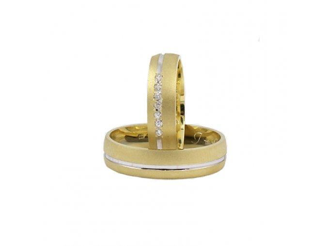 Obrúčky kombinované zlato 2014037/BZ