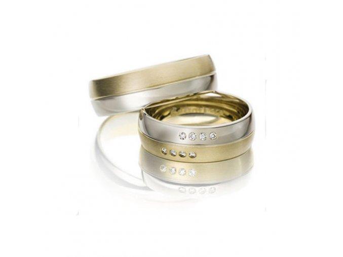 Obrúčky kombinované zlato 2014030/BZ