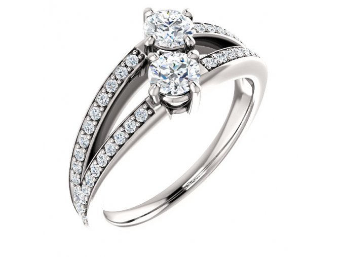 Prsteň z bieleho zlata 122934BZ