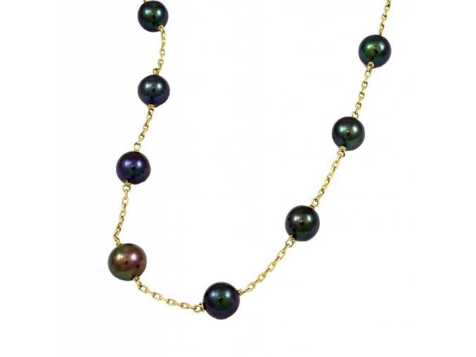 Zlatá perlová retiazka 2663/Z/Py