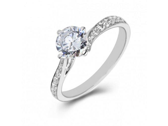 Prsteň z bieleho zlata 2272/B