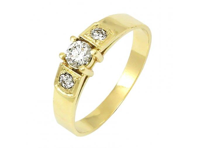 Zlatý briliantový prsteň 2243B/Z/X