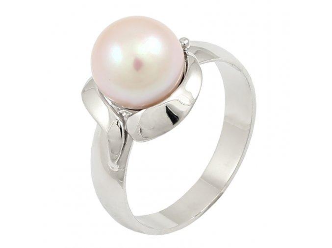 Zlatý perlový prsteň 22100/B/P