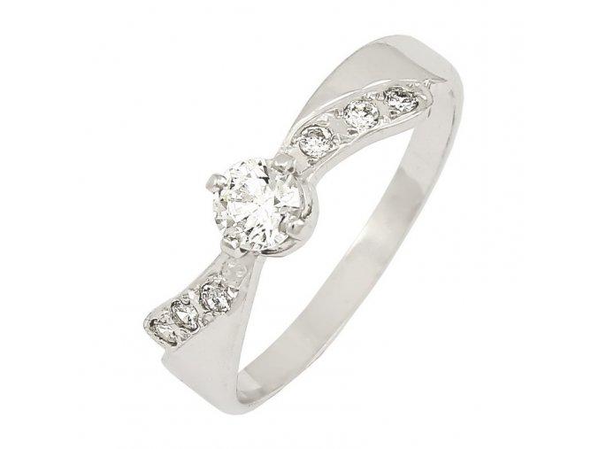 Zlatý briliantový prsteň 2201B/B/X