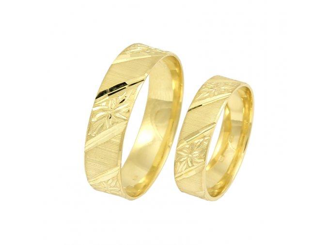 Zlaté svadobné obrúčky 2014102/Z