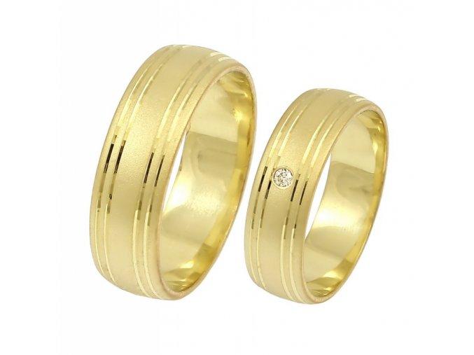 Zlaté svadobné obrúčky K-044