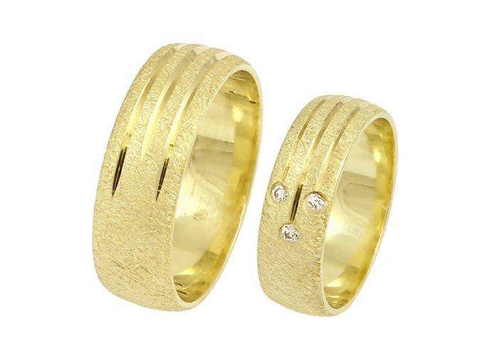 Zlaté svadobné obrúčky K-070