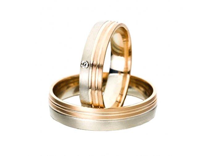 Zlaté svadobné obrúčky 2014031/BC