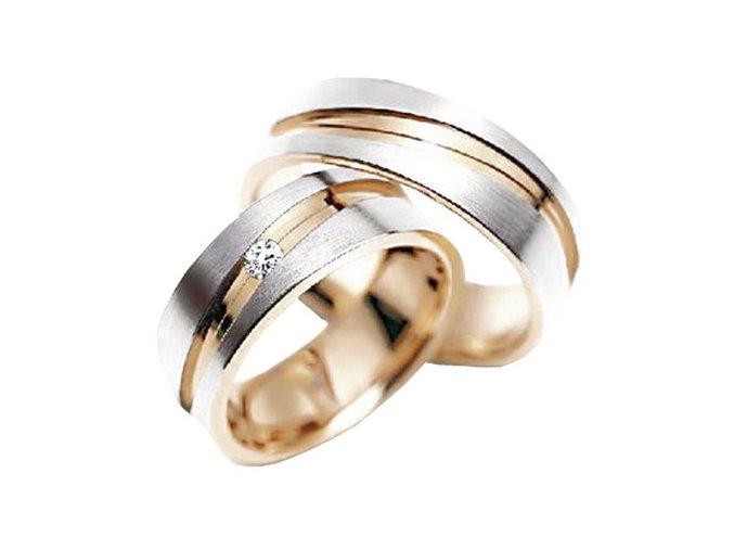 Zlaté svadobné obrúčky 2014085/BC