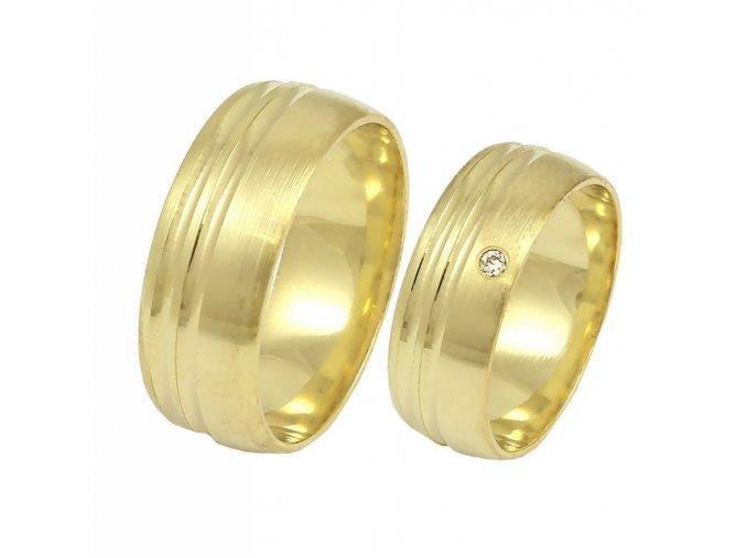 Zlaté svadobné obrúčky K-146