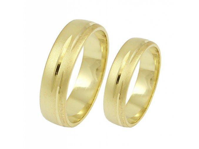 Zlaté svadobné obrúčky K-147