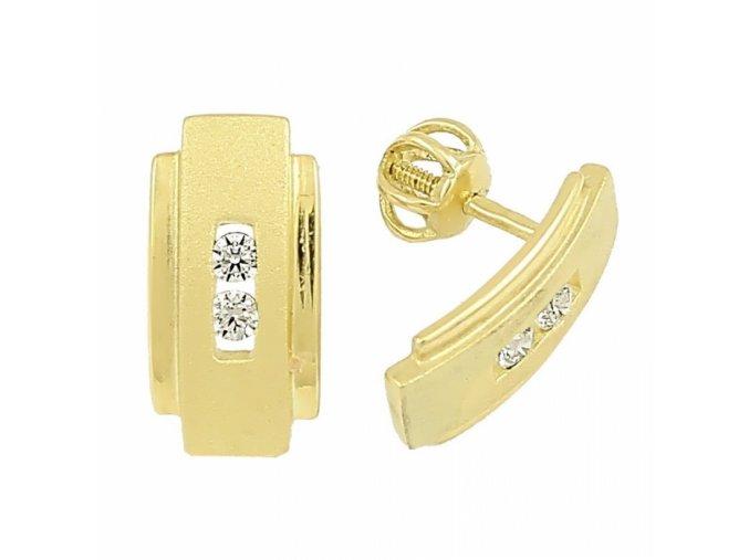 Zlaté náušnice 15191/Zbal/X