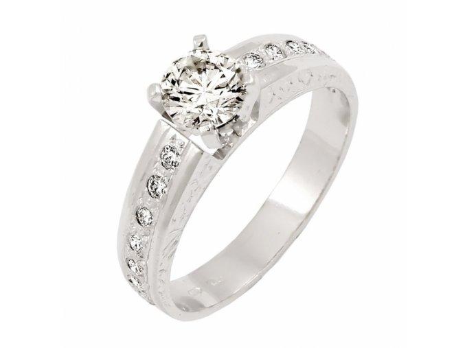 Zlatý briliantový prsteň 22101B/45/B/X