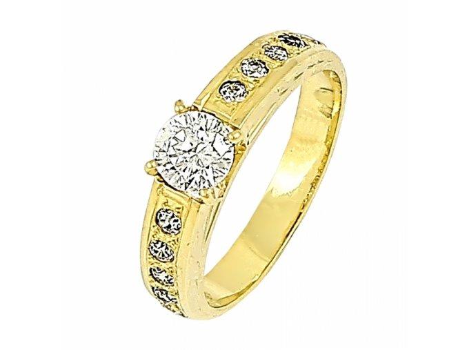 Zlatý briliantový prsteň 22101B/50/Z/X