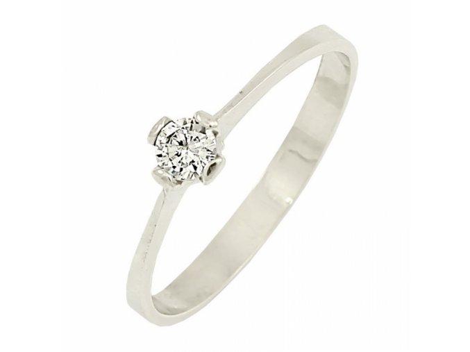 Zlatý briliantový prsteň 22105B/35SH/B/X