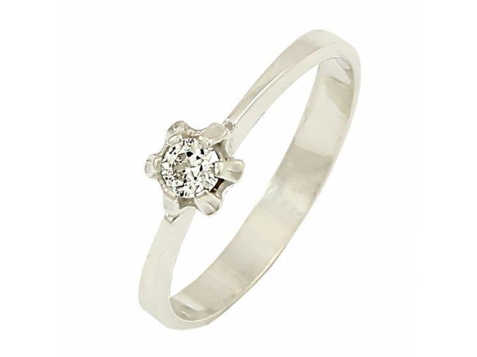 Zlatý briliantový prsteň 22106B/35SH/B/X