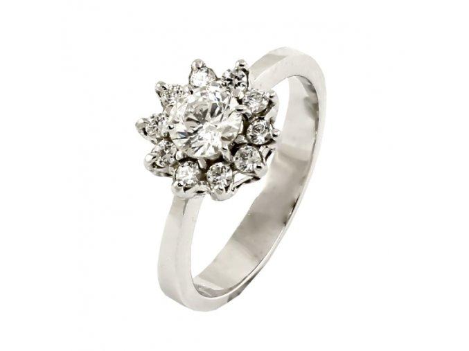 Zlatý briliantový prsteň 2280B/50/B/X