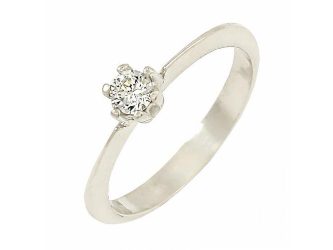 Zlatý briliantový prsteň 22109B/40SH/B/X