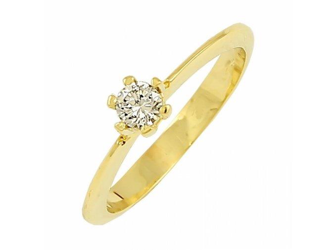 Zlatý briliantový prsteň 22109B/40VG/Z/X