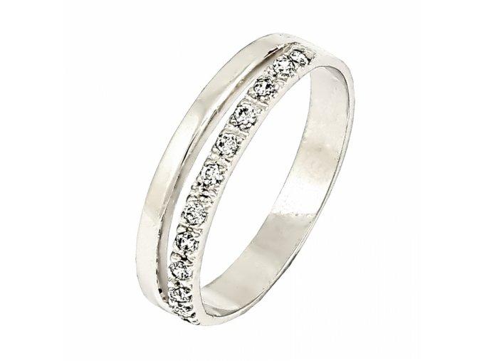 Zlatý briliantový prsteň 22114B/B/X