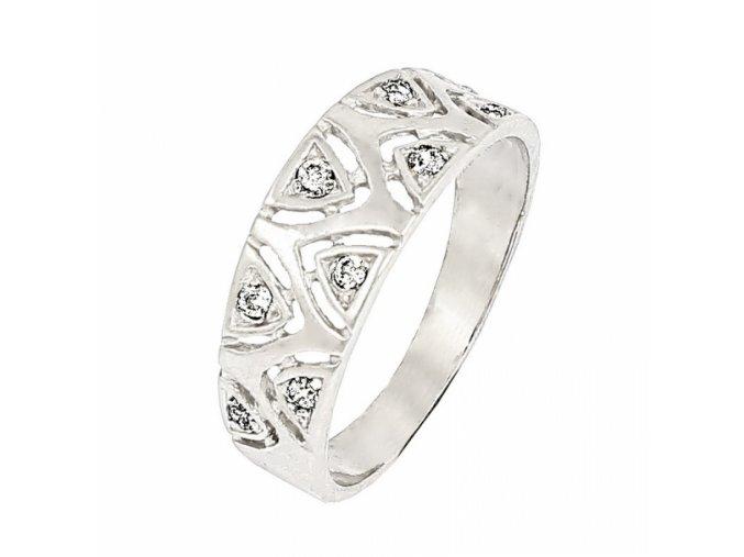 Zlatý briliantový prsteň 22116B/B/X