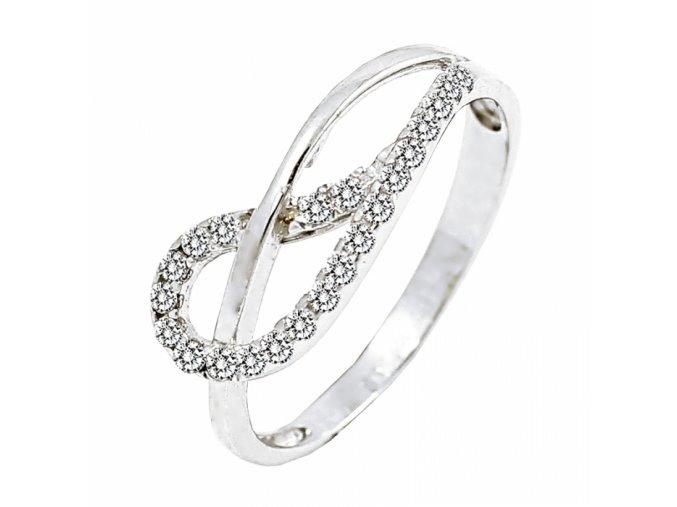 Zlatý briliantový prsteň 22118B/B/X