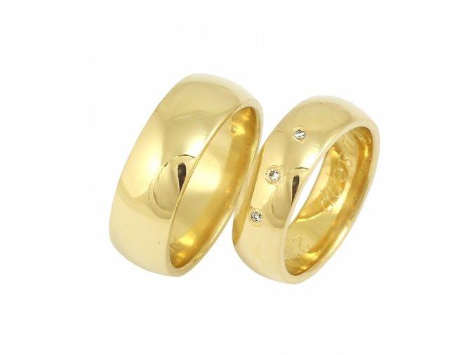 Zlaté briliantové svadobné obrúčky 2014110B/Z