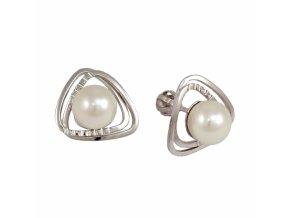 Zlaté perlové náušnice 23175/B/Px