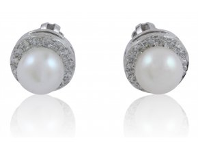 Zlaté perlové náušnice 23120BP