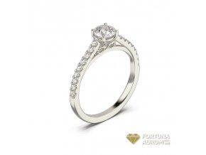 Prsteň  z bieleho zlata 122921B