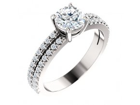 Prsteň z bieleho zlata 71588BZ