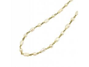 Zlatá perlová retiazka 2664/Z/Px