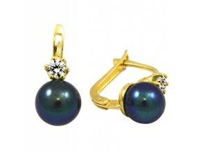 Zlaté perlové náušnice 15373/Z/PyX