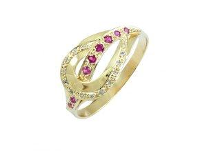 Prsteň zo žltého zlata 22193
